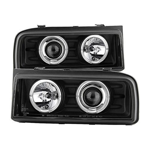 Spyder Auto 5012074 LED Halo Projector Headlights Black/Clear Corrado Halo Projector Headlights
