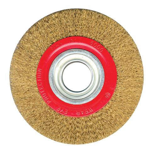 150mm - 6' Wire Wheel - For Bench Grinder - Grinding Rust-paint Remova Loops