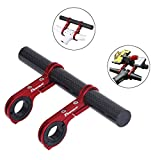 DEEMOUNT Bike Handlebar Extension Rack 202mm Bicycle Double Clamp Bracket Carbon Fiber Extender Accessories Flashlight Lamp Phone Mount Bracket Stand Holder Space Saver - Red
