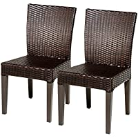 TKC Napa Wicker Patio Dining Chairs in Espresso (Set of 2)