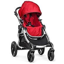 Baby Jogger City Select Stroller In Ruby, Silver Frame, BJ20430
