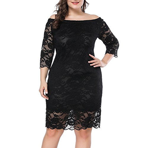 Prior Jms Womens Plus Size Lace Mini Dress Wedding Dresses Off Shoulder Vintage Floral for Cocktail Party Gown (Gown Stretch Lace Top)