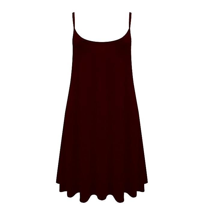 d8f658aa015fd Caraco Femme Swing Robe Évasée Veste De Dames Sans Manche Uni Haut Grande  Taille Skater  Amazon.fr  Vêtements et accessoires