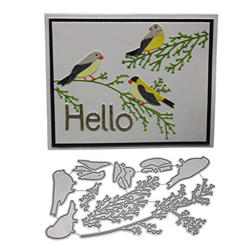 - Cutting DiesHstore Metal die Cutting die for DIY Bird Robot Fox Flower Bear Pattern Clip Art Album Paper Card Decoration Craft (I)