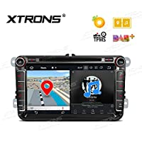 XTRONS 8 Inch Octa-Core Android 8.0 HD Capacitive Touch Screen 4G RAM 32G ROM Car Stereo Radio DVD Player GPS CANbus OBD2 Tire Pressure Monitoring DVR for Wolkswagen Seat Skoda