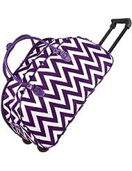Ever Moda Chevron Rolling Duffle Bag