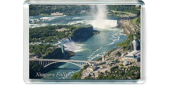 Niagara Falls panoramic fridge magnet New York state travel souvenir Canada USA
