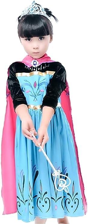 Disfraz de Elsa frozen - niña - mangas de terciopelo negro ...