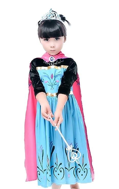 Disfraz - Elsa - Niña - Halloween - Carnaval - con mangas de ...