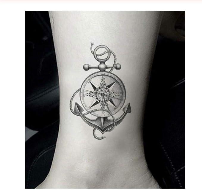 DRTHUKG Etiqueta Engomada del Tatuaje Barco Temporal Etiqueta ...
