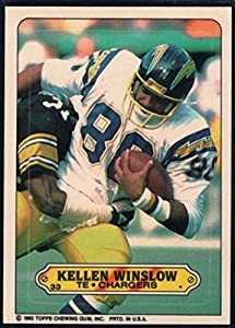 Football NFL 1983 Topps Stickers #33 Kellen Winslow Chargers
