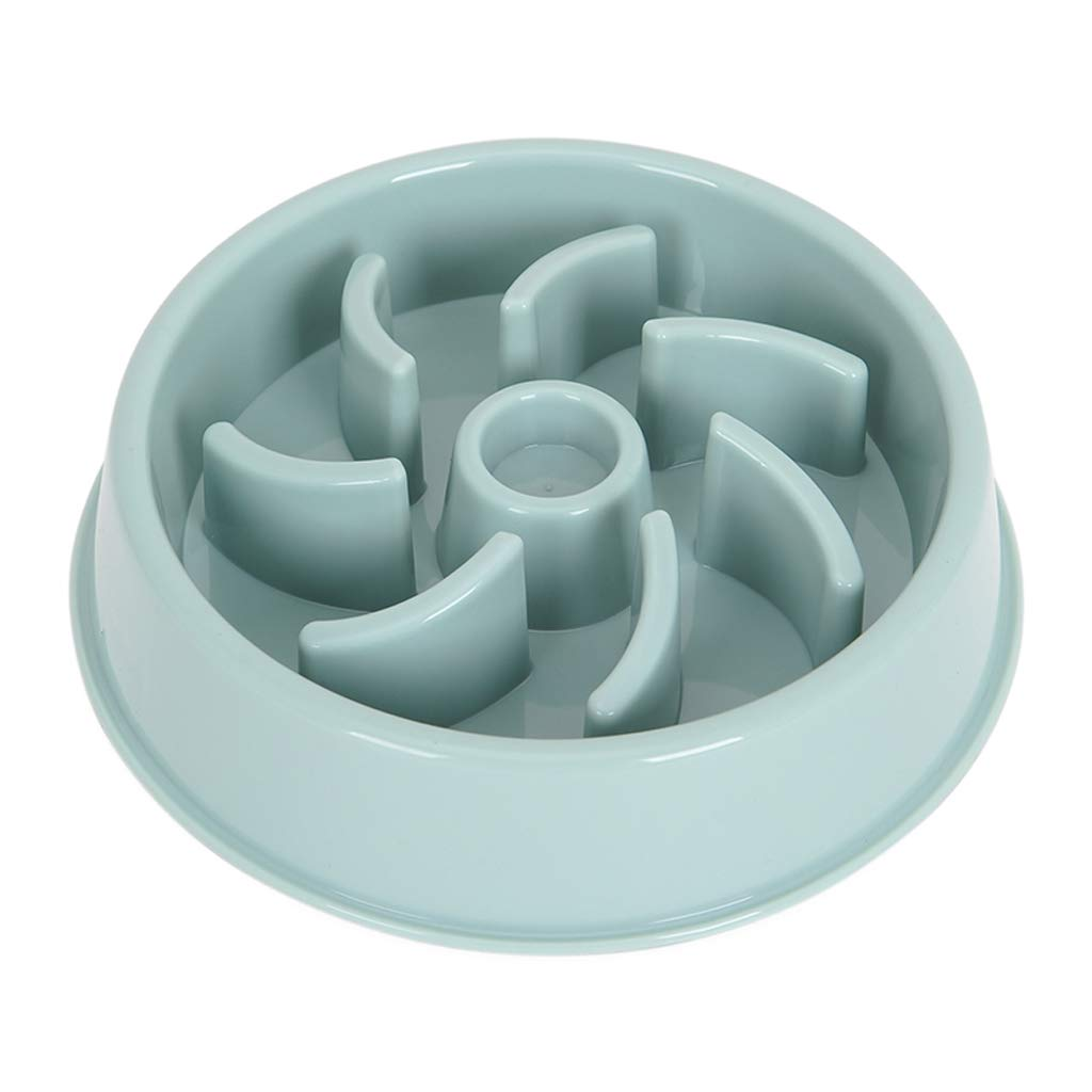 bluee M bluee M KTYX Dog Bowl Cat Bowl Plastic Petal Slow Food Bowl Powder, bluee Pet Bowl (color   bluee, Size   M)