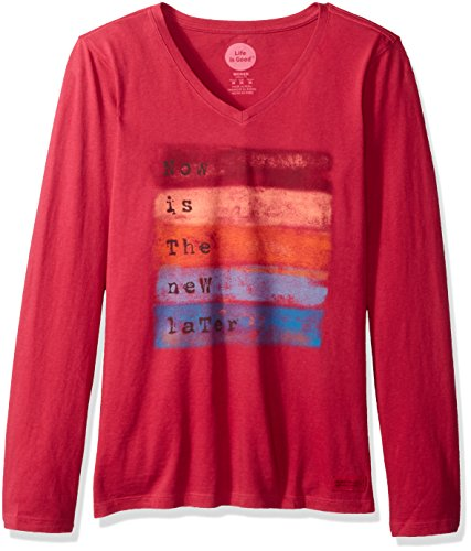 life-is-good-crusher-longsleeve-now-is-new-later-stripe-t-shirt-rose-berry-medium