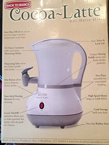 Cocoa Latte Hot Drink Maker By Back