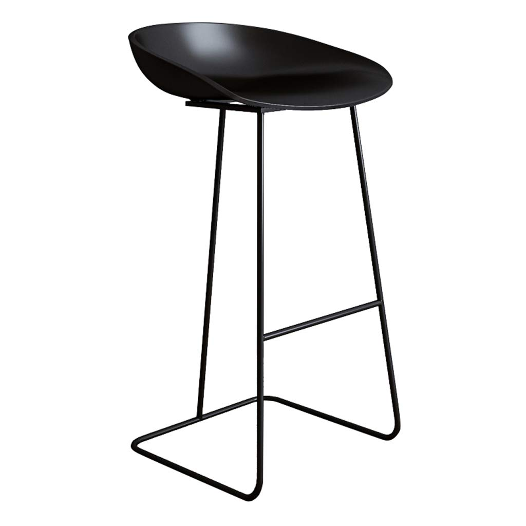 Black-black 65cm DingHome-ca Barstool - Wrought Iron Simple Fashion Breakfast High Chair Creative Bar Stool gold Kitchen Bar Counter