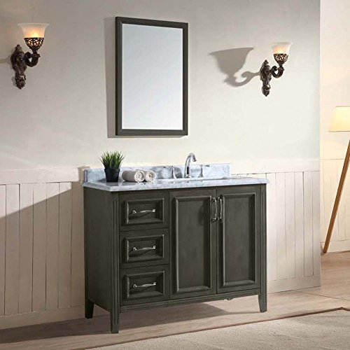 Ari Kitchen and Bath Jude 42 in. Single Bathroom Vanity Set -French Gray on sale