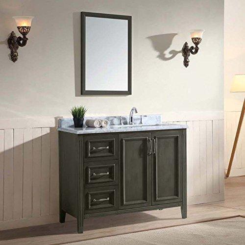 Ari Kitchen and Bath Jude 42 in. Single Bathroom Vanity Set -French Gray