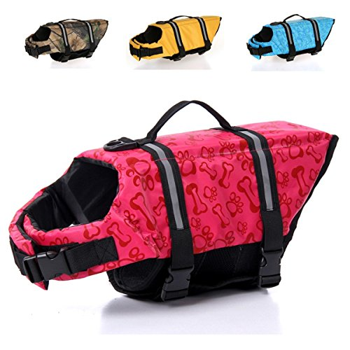 IBOBO Dog Life Jacket Adjustable Dog Lifesaver Safety Reflective Vest Pet Life Preserver Dog Safety Life Coat for Swimming, Boating, Hunting | (XS, S, M, L, XL) from IBOBO