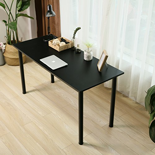 Eyabuynar Computer Table Writing Desk Workstation Office Desk (55x23.6 inch, Black + Black leg) by Eyabuynar