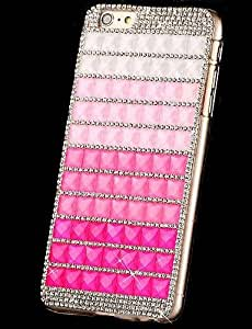 YULIN caso duro de la PC rhinestone color degradado para el iphone 6 (colores surtidos) , purple
