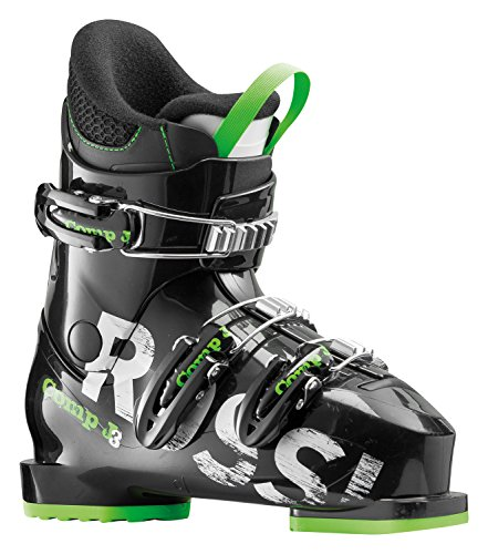 Rossignol Comp J3 Kids Ski Boots 2018 - 22.5/Black-Green (Ski Mountain Boots)