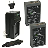 Wasabi Power Battery (2-Pack) and Charger for Olympus BLS-5, BLS-50, PS-BLS5 and Olympus OM-D E-M10, PEN E-PL2, E-PL5, E-PL6, E-PL7, E-PM2, Stylus 1