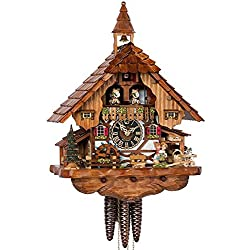 Cuckoo Clock - 1-Day Chalet with Kissing Couple & Cat - HÖNES