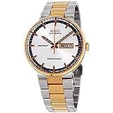 MIDO Commander II Automatic Swiss Watch Silver Rose Gold M0144302203100