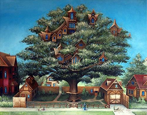 Matted Fine Art Print 11x14, Neighborhood Treehouse, Justin D Miller