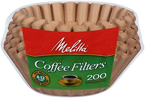 Melitta Paper (Melitta Basket Coffee Filters, Natural Brown (8 to 12-Cup), 200-Count Filters (Pack of 8))