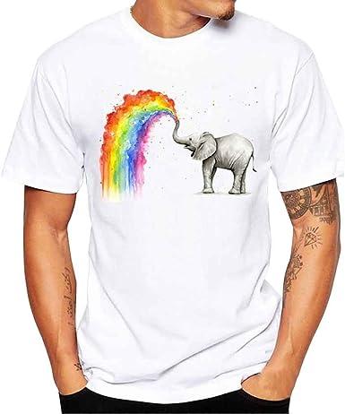 Camisetas Hombre Algodon Basicas Calavera Blusa 2019 Nuevo Manga Corta Cuello Redondo Tops Deportivas T-Shirt Gym Running ZOELOVE Camisas de con Estampado de Camiseta para Hombre: Amazon.es: Ropa y accesorios