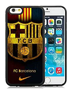 Fc Barcelona Black iPhone 6 4.7 inch TPU Cellphone Case Unique and Fashion Cover