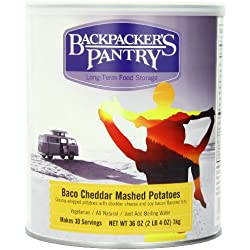 Backpacker's Pantry Bacon Cheddar Mashed Potatoes, 36 Ounce, #10 Can