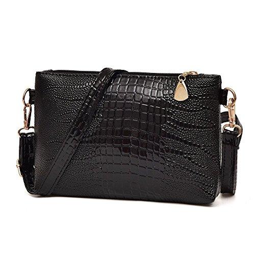Liraly Women Bags,Clearance Sale! 2018 Women Handbag Crocodile Pattern Shoulder Bag Small Tote Ladies Purse (Black)