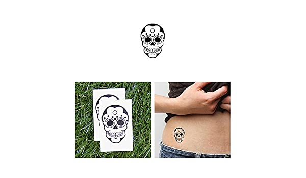 Tatuaje Temporal Tattify - Calavera azucarada pequeña - Tanque de ...