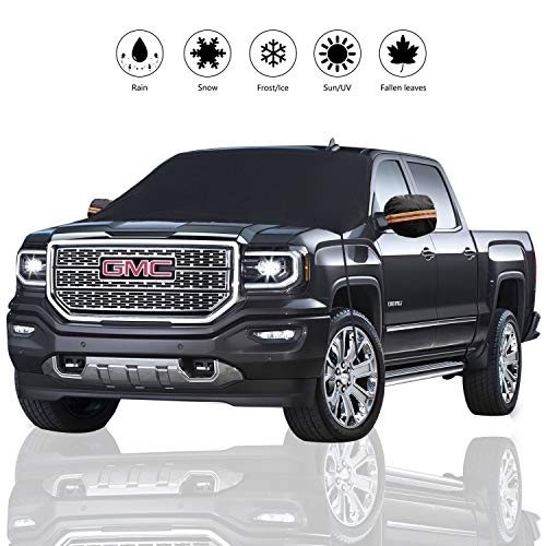 REDESS Windshield Snow Cover, Winter Car Snow Cover, Enlarged Size Fits Larger Car, Truck, SUV, Van, Premium Protector Shade for Snow, Ice, Frost, Waterproof Windproof Outdoor Windshield Covers