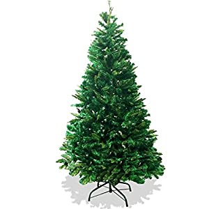 6' Foot Premium 800 Tips Full & Plush branches Canadian Pine Frasier Fir Green Artificial Christmas Tree PLUSH & FULL - Metal Tree Stand 68