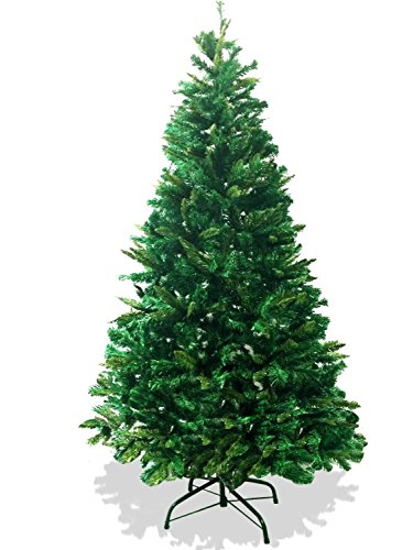 LavoHome 6-Feet 1200 Tip Branch Canadian Pine Frasier Fir Green Artificial Plush and Full Christmas Tree with Metal Stand - Artificial Frasier Fir
