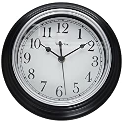 Nyl Holdings/Westclox FBA_46991A 9 Decorative Wall Clock (Black), 1