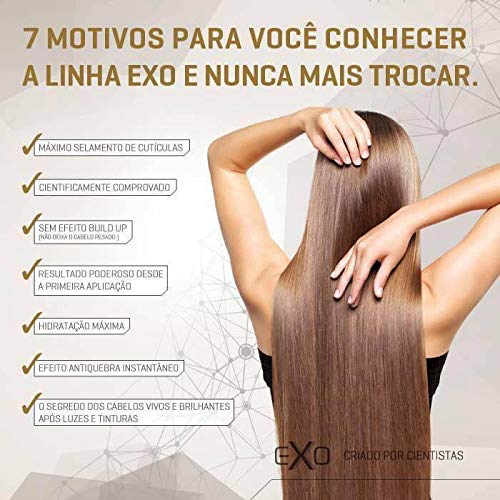 Exoplastia Capilar Original Exoplasty Capillary Brazilian Hair Smoothing Keratin Nanotech STEP 2 ONLY 1 LITRE by EXO (Image #3)