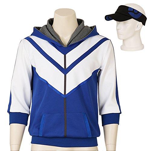 Men's Pokemon Go Trainer Figure Blue Hoodie Team Mystic I...