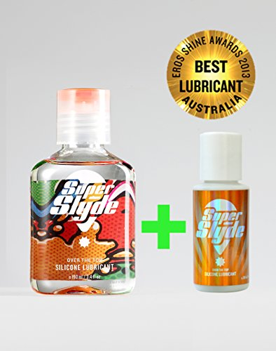Award Winning since 2013-Premium Silicone Lubricant by SuperSlyde. Personal Sex Lube for Women & Men. Anal, Vaginal or Massage use (3.4oz + FREE 1 x 30ml)