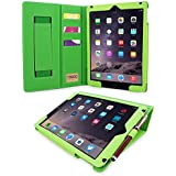 iPad 3 / iPad 4 Case, Snugg - Executive Smart Cover With Card Slots & Lifetime Guarantee (Green Leather) for Apple iPad 3 & 4