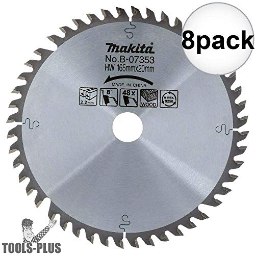 Makita B-07353 6-1/2 inch 48 Tooth Circular Saw Blade 8-Pack