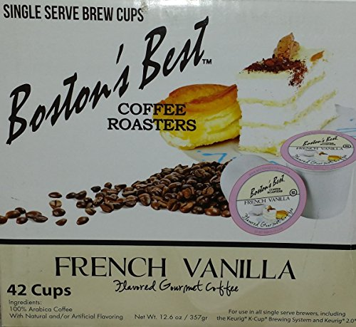 Boston's Best Single Serve K-Cup Coffee, French Vanilla, 42 (French Roaster)