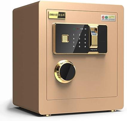 Convencionales Cajas Fuertes Caja Fuerte electrónica for el hogar con Medio Caja Fuerte for Huellas Dactilares Caja Fuerte for contraseña doméstica Cajas Fuertes (Color : Gold, Size : 36 * 30 * 40cm): Amazon.es: Hogar