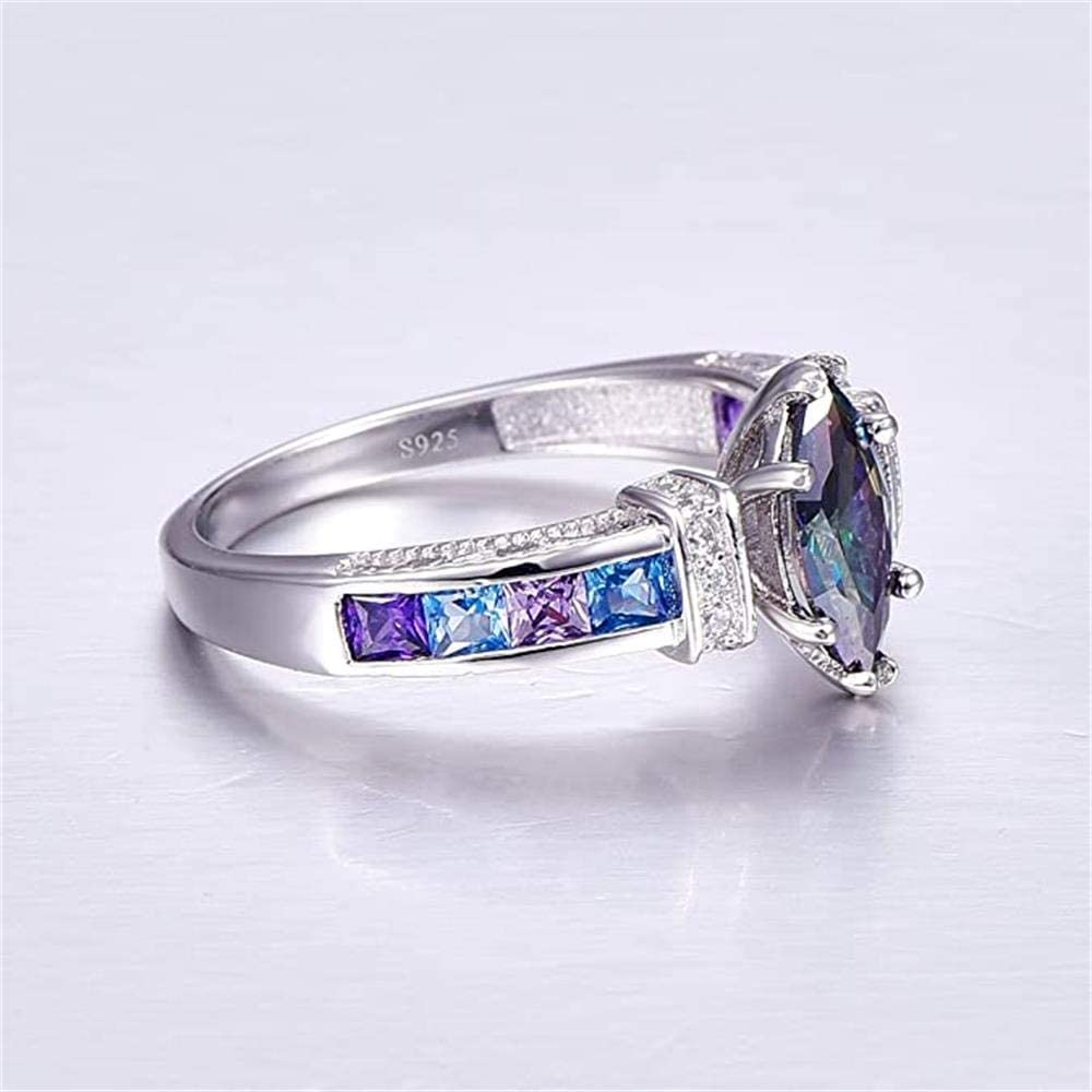 promise ring anniversary ring wedding ring 100/% Natural Topaz 8*10mm engagement ring gift for her