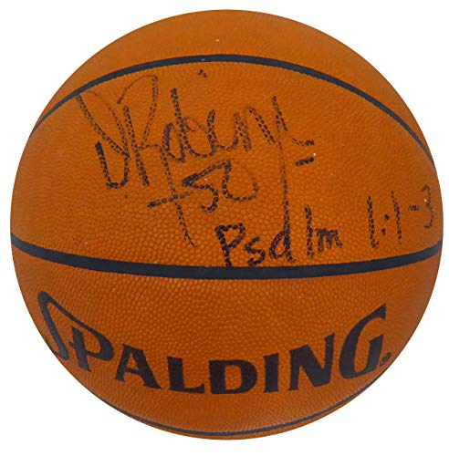 David Robinson Autographed Official Spalding Leather Basketball San Antonio Spurs Beckett BAS #H44558