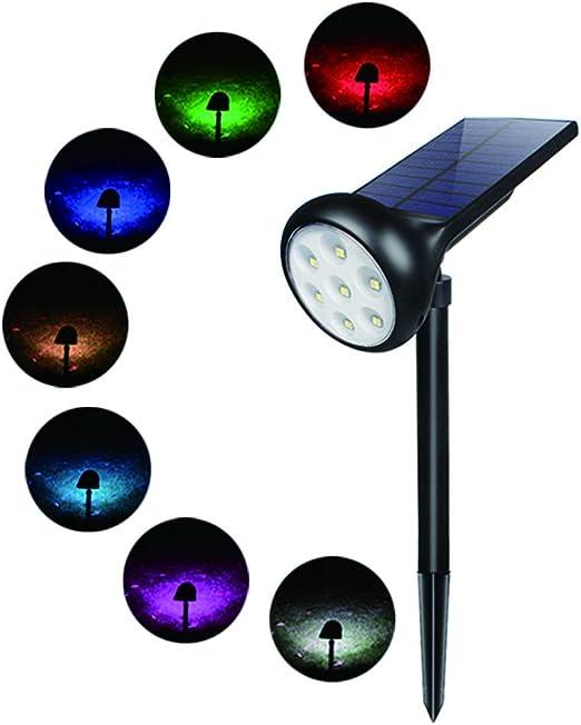 DJSDFHB Focos LED de Colores, Luces al Aire Libre a Prueba de Agua para jardín, Patio, lámpara de Pared, Luces de Paisaje, Luces para árboles (2): Amazon.es: Hogar