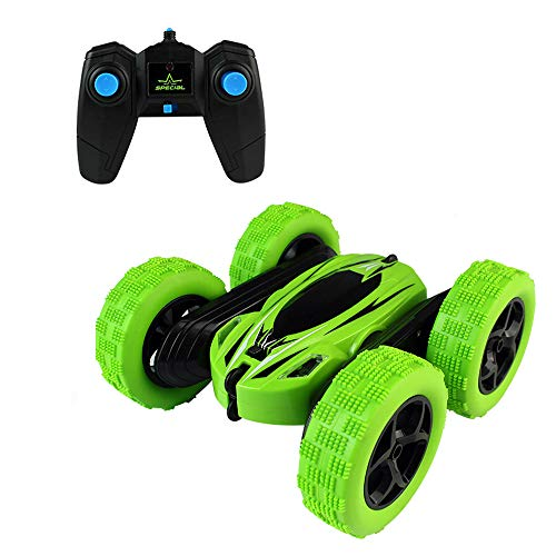 RC Car Remote Control Stunt Car Double Sided Rotating Tumbling 360 Degree Flips,RC Truck with LED Headlights, 4WD 2.4GHz Off-Road Racing Vehicles for Outdoor and Indoor Children Birthday -
